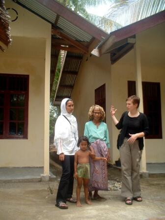 Pracovníčka ČvO na ceste po Acehu