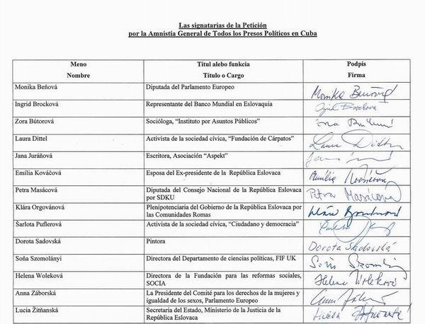 Petícia za prepustenie politických väzňov