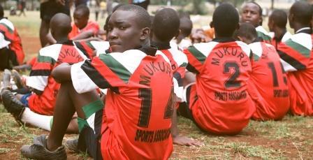 Družstvo chlapcov pred zápasom