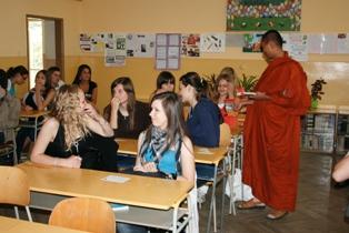 Ashin Sopaka na škole v Nitre