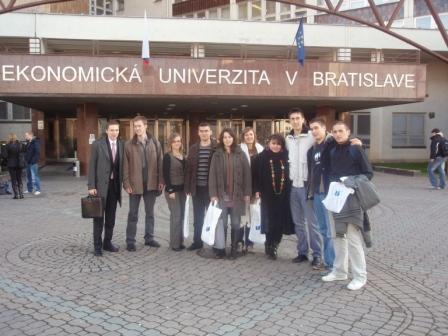 so zástupcami Študentského parlamentu EUBA - december 2009