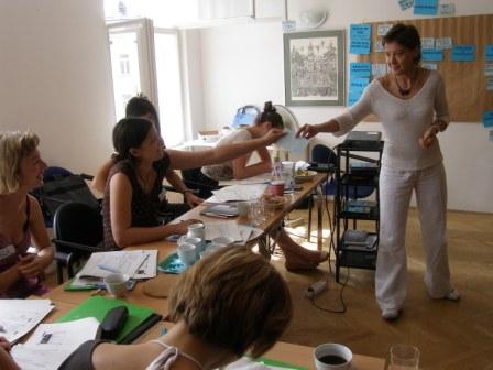 Druhý tréning s trénerkou Laurou Giambelli z organizácie Punto.sud z Talianska