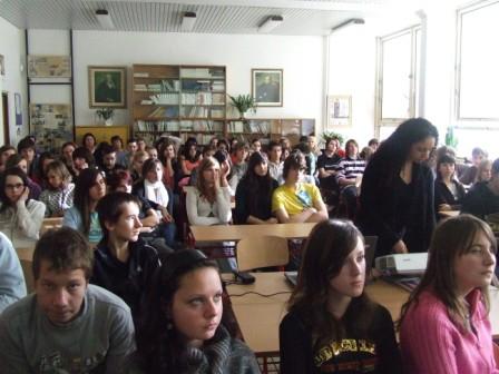 Prednáška pre žiakov gymnázia v Turčianskych Tepliciach - november 09