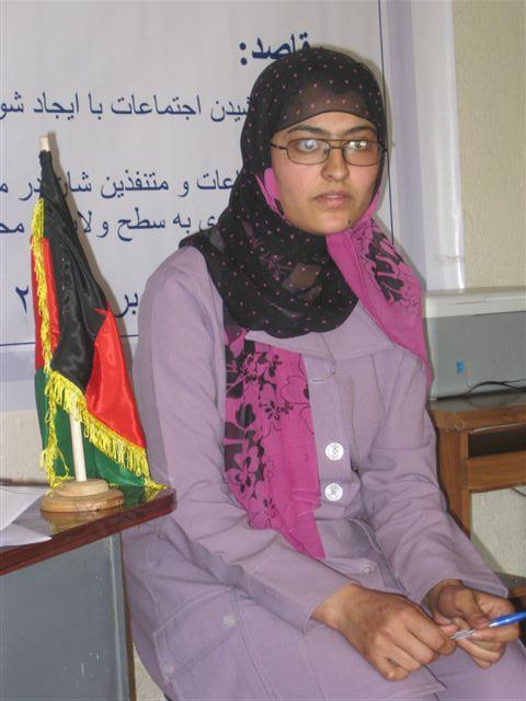 M. Ondeková, Charikar, Afganistan, máj 2010: Arzu - absolventka STEP inštitútu