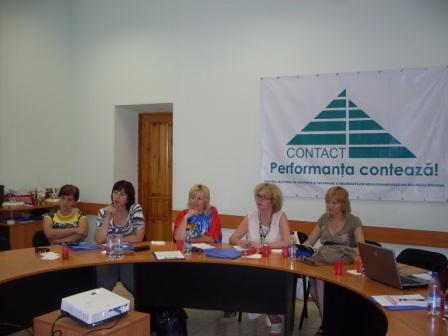 Moldavskí novinári počas tréningu, Kišiňov, jún 2010