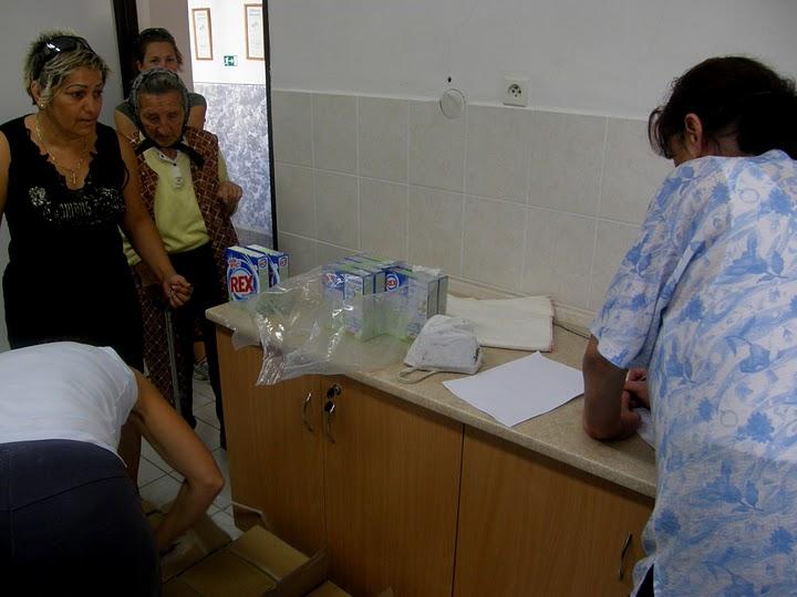 M. Sýkora, august 2010, SR: Distribúcia pomoci na Hornej Nitre