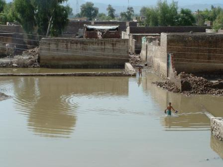K. Ali Shah, august 2010, Pakistan: Zaplavená krajina