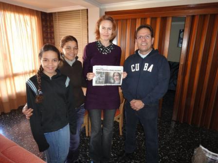 M. Horák, Španielsko, december 2010: Držiteľka ceny J. Langoša, Gisela Sanchez Verdecia (2. zľava)