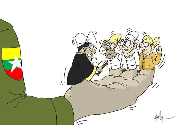 8._Than_Shwe_dava_palec_hore_novej_vlade