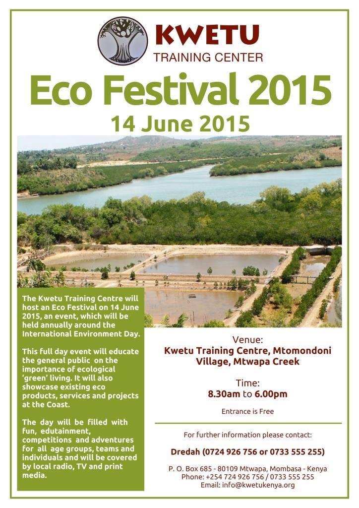 Poster Eco Festival 2015 at Kwetu