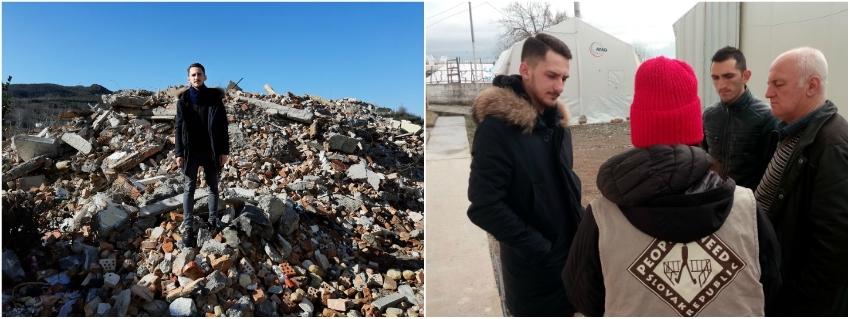 Po dome, v ktorom žil Ergyst (vľavo) s rodinou, zostali len ruiny.